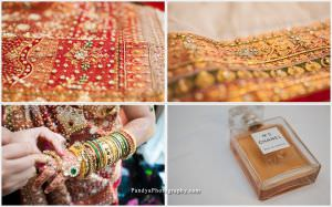South Asian wedding outfit and details